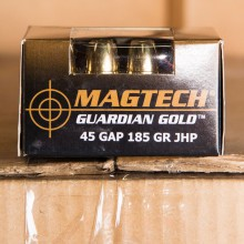 .45 GAP MAGTECH GUARDIAN GOLD 185 GRAIN JHP (20 ROUNDS)