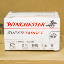 "12 GAUGE WINCHESTER SUPER TARGET 2-3/4"" #8 SHOT (25 ROUNDS)"