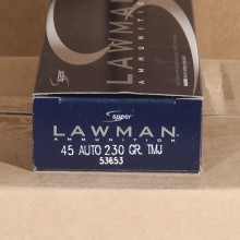 45 ACP SPEER LAWMAN 230 GRAIN TMJ (50 ROUNDS)