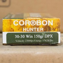 30-30 WINCHESTER CORBON 150 GRAIN DPX SCHP (20 ROUNDS)