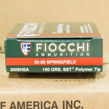 .30-06 SPRINGFIELD FIOCCHI EXTREMA HUNTING 150 GRAIN SST (20 ROUNDS)