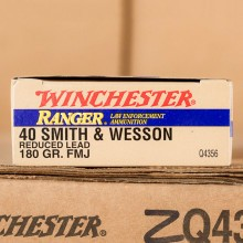40 S&W WINCHESTER RANGER 180 GRAIN FMJ REDUCED LEAD (50 ROUNDS)