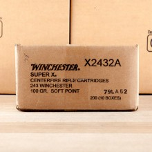 243 WIN WINCHESTER SUPER-X 100 GRAIN PP (20 ROUNDS)