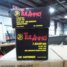 7.62X39MM TULA 124 GRAIN FMJ (100 ROUNDS)