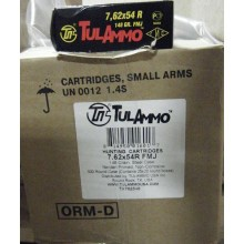 7.62X54R TULA 148 GRAIN FMJ (500 ROUNDS)