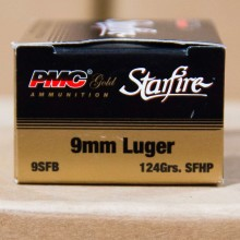 9MM LUGER PMC STARFIRE 124 GRAIN JHP (20 ROUNDS)