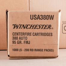 380 AUTO WINCHESTER USA 95 GRAIN FMJ (200 ROUNDS)