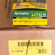 .45 ACP REMINGTON HTP SUBSONIC 230 GRAIN JHP (50 ROUNDS)