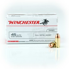 45 ACP WINCHESTER USA 230 GRAIN FMJ (100 ROUNDS)