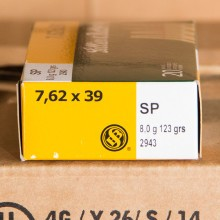 7.62X39 SELLIER & BELLOT 123 GRAIN SP (20 ROUNDS)