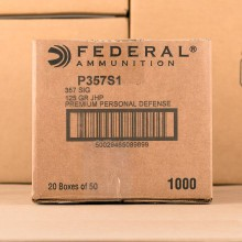 357 SIG FEDERAL PERSONAL DEFENSE 125 GRAIN JHP (50 ROUNDS)