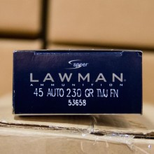 .45 ACP SPEER LAWMAN 230 GRAIN TMJ (50 ROUNDS)