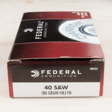 40 S&W FEDERAL CHAMPION 180 GRAIN FMJ (50 ROUNDS)