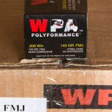 .308 WIN WOLF POLYFORMANCE 145 GRAIN FMJ (20 ROUNDS)