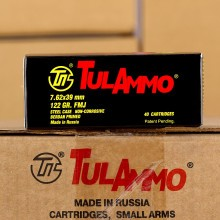 Photo detailing the 7.62x39MM TULAMMO 122 GRAIN FULL METAL JACKET (1000 ROUNDS) for sale at AmmoMan.com.