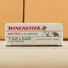 7.62x54R WINCHESTER 180 GRAIN SP (20 ROUNDS)