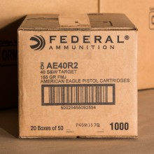 40 S&W FEDERAL 155 GRAIN FULL METAL JACKET (1000 ROUNDS)
