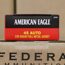 45 ACP FEDERAL AMERICAN EAGLE 230 GRAIN FMJ (500 ROUNDS)