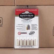 38 SUPER AUTO GLASER SILVER 80 GRAIN SAFETY SLUG (6 ROUNDS)