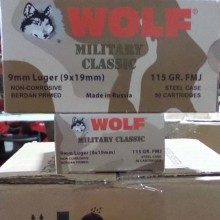 9MM LUGER WOLF WPA MILITARY CLASSIC 115 GRAIN FMJ (50 ROUNDS)