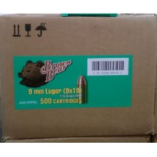 9MM BROWN BEAR 115 GRAIN FMJ (500 ROUNDS)