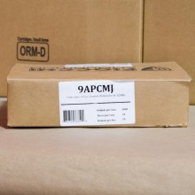 9MM FIOCCHI 115 GRAIN CMJ (1000 ROUNDS)