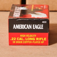 22 LR FEDERAL AMERICAN EAGLE 38 GRAIN HP (40 ROUNDS)
