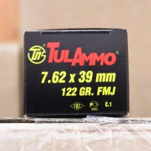 7.62x39MM TULAMMO 122 GRAIN FULL METAL JACKET (100 ROUNDS)