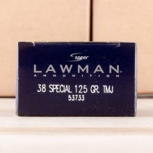 Image of 38 SPECIAL SPEER LAWMAN 125 GRAIN TMJ (1000 ROUNDS)