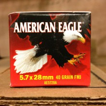 5.7x28MM FEDERAL AMERICAN EAGLE 40 GRAIN TMJ (50 ROUNDS)