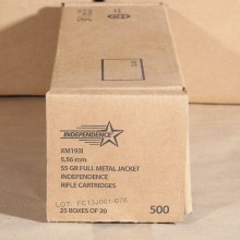 5.56x45mm NATO 55 GRAIN M193 FMJ BT (INDEPENDENCE) (500 ROUNDS)