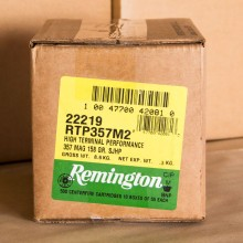 357 MAGNUM REMINGTON HTP 158 GRAIN SEMI JACKETED HOLLOW POINT (50 ROUNDS)