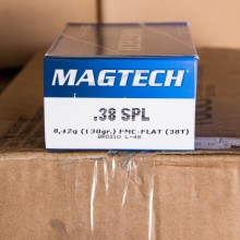 38 SPECIAL MAGTECH 130 GRAIN FULL METAL CASE (50 ROUNDS)