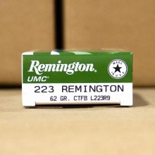 223 REM REMINGTON UMC 62 GRAIN CTFB (20 ROUNDS)