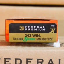 243 WIN FEDERAL VITAL-SHOK SIERRA GAMEKING 100 GRAIN SP (20 ROUNDS)