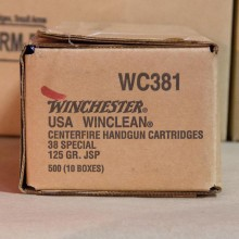 38 SPECIAL WINCHESTER WINCLEAN 125 GRAIN JSP (50 ROUNDS)