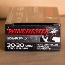 30-30 WINCHESTER SILVERTIP 150 GRAIN POLYMER-TIP (20 ROUNDS)