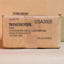 30-06 SPRINGFIELD WINCHESTER 147 GRAIN FMJ (20 ROUNDS)