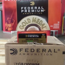 300 WIN MAG FEDERAL PREMIUM GOLD MEDAL 190 GRAIN SIERRA MATCHKING BTHP (20 ROUNDS)