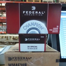 38 SPECIAL FEDERAL CHAMPION 158 GRAIN LRN (50 ROUNDS)