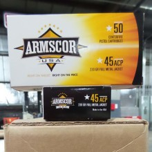 45 ACP ARMSCOR USA 230 GRAIN FMJ (1000 ROUNDS)