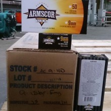 9MM LUGER ARMSCOR PRECISION 124 GRAIN FMJ (1000 ROUNDS)