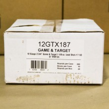"12 GAUGE FIOCCHI GAME LOADS 2-3/4"" #7.5 SHOT (250 SHELLS)"
