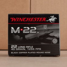 22 LR - 40 Grain Black Copper Plated Round Nose - Winchester M22 - 500 Rounds