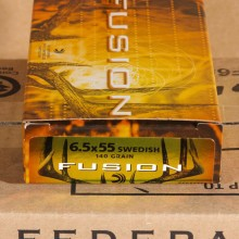 6.5X55 SWEDISH FEDERAL FUSION 140 GRAIN SP (20 ROUNDS)