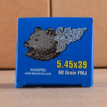 5.45X39 SILVER BEAR 60 GRAIN FMJ (750 ROUNDS)