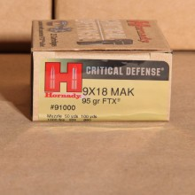 9MM MAKAROV HORNADY CRITICAL DEFENSE 95 GRAIN JHP (25 ROUNDS)