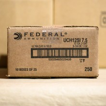 "12 GAUGE FEDERAL ULTRA CLAY & FIELD 2-3/4"" #7.5 SHOT (25 ROUNDS)"