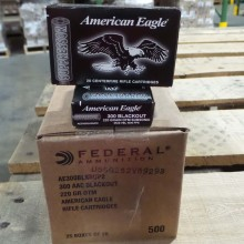 300 AAC BLACKOUT FEDERAL AMERICAN EAGLE 220 GRAIN OTM SUBSONIC (500 ROUNDS)