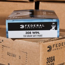 .308 WINCHESTER FEDERAL POWER-SHOK 150 GRAIN SP (20 ROUNDS)